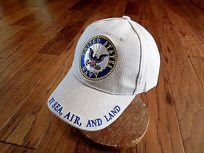 f33c8a4ec12 New U.s Military Navy Embroidered Khaki Hat Baseball Cap Official Licensed  Hats
