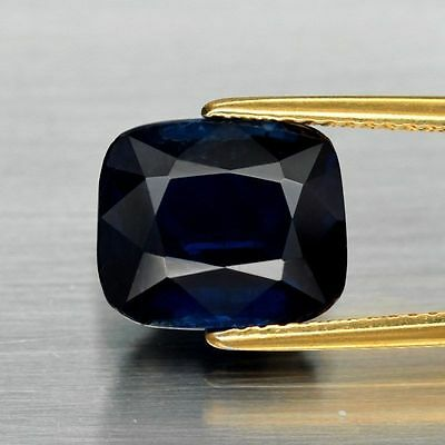 5.04 Ct Cushion Cut Natural Kyanite, Deep Royal Blue, Ceylon