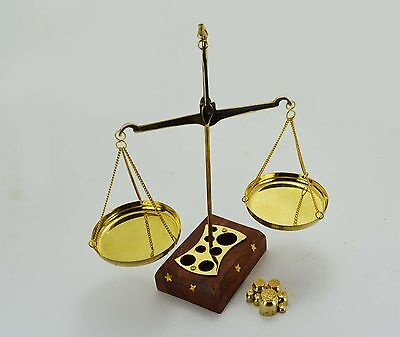 Brass Weighing Scale Balance Justice Law Scale Decoration