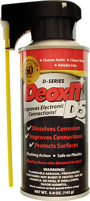 DeoxIT Spray D5 - 5.0oz 142g De Oxit D5S-6 - In Shop pickup OK.