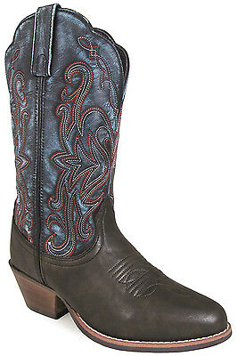 Smoky Mountain Ladies Fusion 1 Western Boots - Brown/Vintage Blue