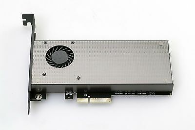 PCIe 3.0 x4 M.2 NGFF 2280 NVMe or SATA SSD Adapter Card with FAN SM961 960Pro