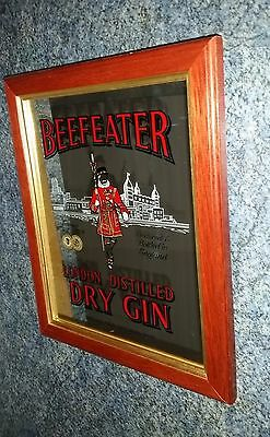 BEEFEATER London Dry Gin bar mirror approx. 30 x 25 cm