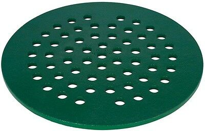 Cast Iron Floor Drain Cover Round Metal Removable Grate Green 8 Inch Diameter