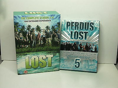 Used LOST The Complete TV Series Seasons 1-4  Set And A Season 5 DVD