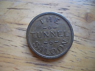 Reno  Nevada ~~ Saloon Token ~~ Tunnel Saloon ~~ Good For One Cigar Or Drink