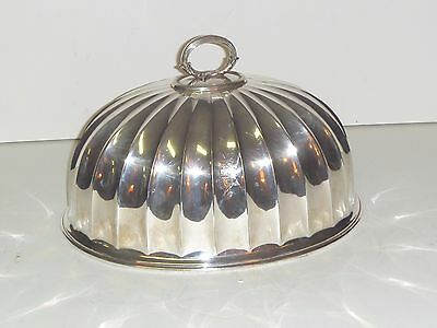 """Antique Large Mappin & Webb Princes Plate Fluted Meat Dome Monogramed W4487 14"""""""