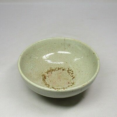 B652: Real old Korean Joseon Dynasty porcelain bowl with appropriate work