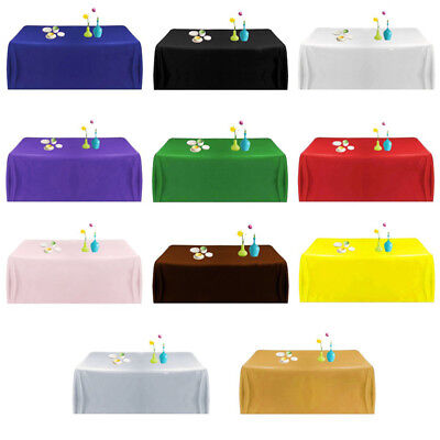 Plastic Table Cover BBQ Catering Wedding Party Supplies Tablecloth 137*183cm