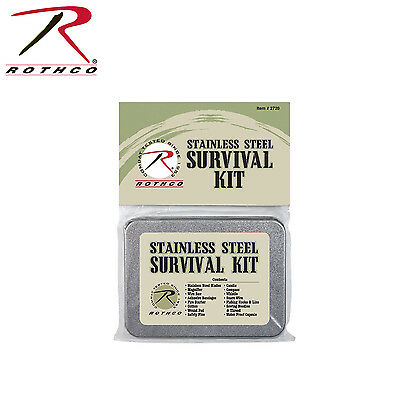 Traditional Tin Boxed Survival Set - Rothco Survival Kit in a Tin