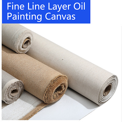 Blank Canvas 1m Roll Painting Linen Blend Primed High Quality Artist Supplies