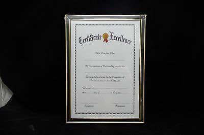 ONE CLASSICAL A4  Photo Picture Frame/ CERTIFICATE Document Frame