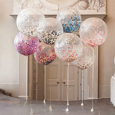 "20pcs 12"" Colorful Confetti Balloon Birthday Wedding Party Helium Balloons Latex"