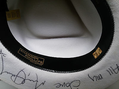 Michael Jackson signed White Fedora RARE Shannon Phillips Collection! Autograph