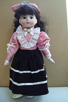 EPI International Porcelain Doll With Stand 16 Inches Tall