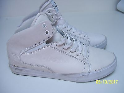 Supra Mens White Skate Shoes Uk 8 Marked
