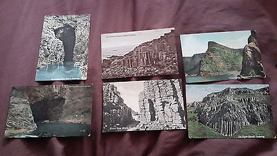 6 x Old postcards of the Giants Causeway, Ireland