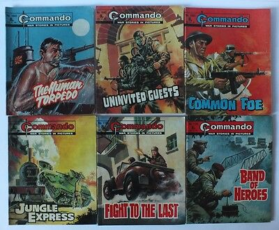 8 Commando Issues 320 758 And 1043 To 1109 War Comic Picture Library V.good Plus