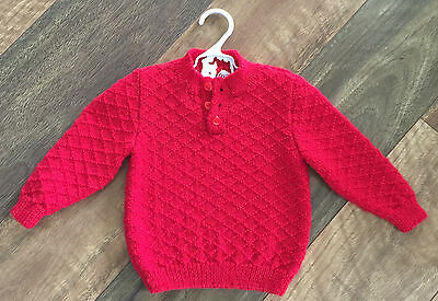 Handmade With Love | Baby | Unisex | Red | Jumper | 0 - 3 Months | Never Worn