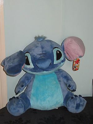 """Lilo & Stitch Giant Size 20"""" Soft Plush Toy. Disney Store Exclusive With Tags"""