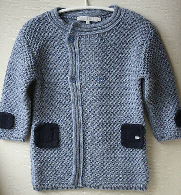 Baby Dior Blue Knitted Coat 12 Months