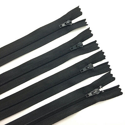10pcs 24inch Black Nylon Coil Zippers Tailor Sewing Craft Clothing Crafter's