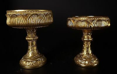 Japanese Gold Coloured Lotus shaped Butsudan Offering Plates
