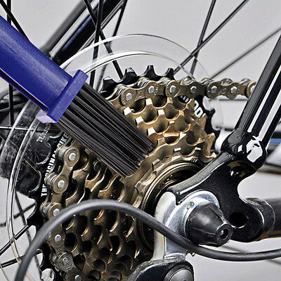Motorcycle Bicycle Bike Chain Set Crankset Brush Cleaner Cleaning Tool ! O6Y