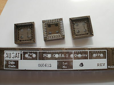 PCS-068A-1 IC Socket SKT 68 pin PLCC 2.54mm made by Augat   pack of 10    ZB127A