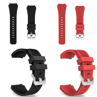 Silicone Bracelet Strap Watch Band For Samsung Gear S3 Frontier/Classical 22mm