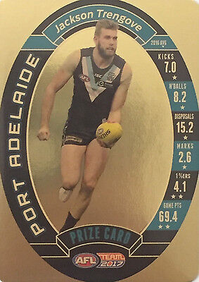 2017 Afl Teamcoach Team Coach Prize Card Port Adelaide Jackson Trengrove Mint
