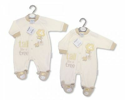 Newborn  Baby Clothes  Sleepsuit Baby Grow All In One  Boy Girl Cream Newborn