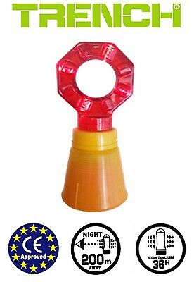 4 PCS - LED Traffic Warning Lights - Can be put on Traffic cone