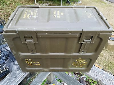 rare old Vietnam vintage brown Navy military 30mm ammo can XM140 cannon humidor