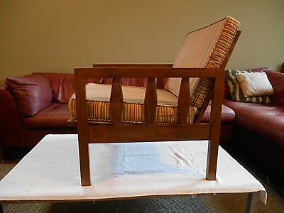 MID CENTURY DANISH MODERN LOUNGE CHAIR EX COND 1960's PERFECT UPHOLSTRY