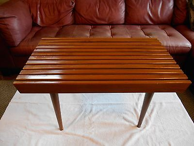 Mid Century Danish Modern Style Small Slat Bench Table Great Original Condition