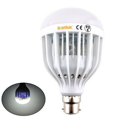 UV LED Bug Killer Light Bulb Mosquito Flies Insects Zapper Patio Porch Type NEW