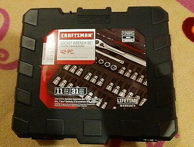 Craftsman 934845 42 PC 1/4 and 3/8-inch Drive Bit and Torx Bit Socket Wrench Set