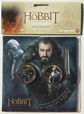 Uncirculated Coin Set New Zealand Hobbit Battle of the Five Armies Thorin Azog