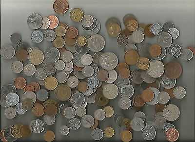 Lot Of 200 Assorted Foreign Coins (Not Searched - May Have Silver)
