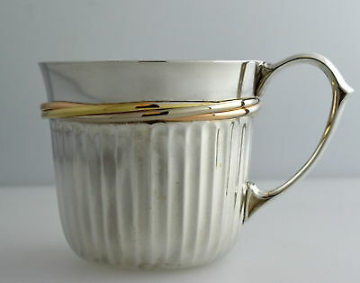 Cartier Sterling Silver Tri Color Wrap Design Cup