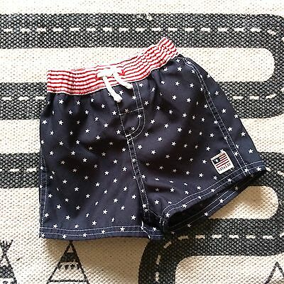 Baby Boy Gap Swimming Trunks 3-6 Months Stars And Stripes Beach Shorts