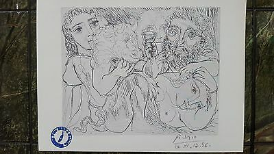 Pablo Picasso Rare Vintage Old Vollard 1956 litho Lithograph  hand signed dated.