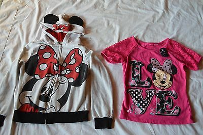 Girls's Minnie Mouse shirt and jacket by Disney, child's size 7/8