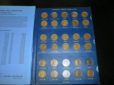 Lincoln Cent Collection 1909-1969 162 Different Dates/mint Marks Nice Set L@@k