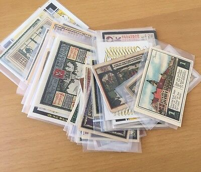 German Notgeld Collection Mixed Lot of 50+ pieces of Uncirculated paper money