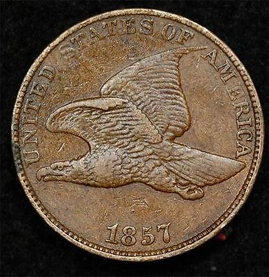 1857 Flying Eagle Cent:  nice XF