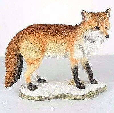 "Fox Standing Figurine Miniature Statue 8""L New in Box"