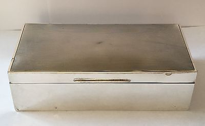 Solid Silver Cigarette Box Wood Lined Mappin And Webb Birmingham 1937