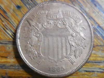1865 Shield Two Cent Coin (seller's note # 289)